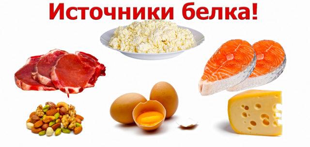 Продукты питания являются естественным источником белка